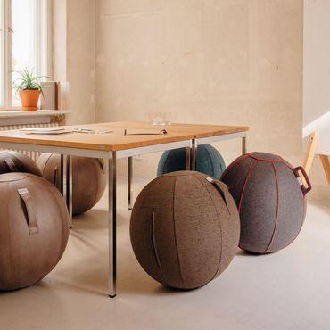 Vluv Leiv Stoff-Sitzball Durchmesser 70-75 cm Stone / Grau – Bild 5