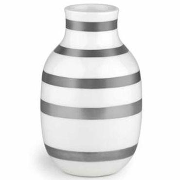 Kähler Omaggio Vase silber klein Höhe 12,5 cm aus Keramik