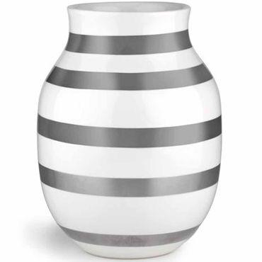 Kähler Omaggio Vase silber mittel Höhe 20 cm aus Keramik