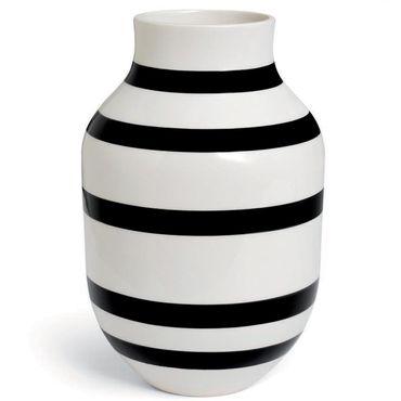 Kähler Omaggio Vase schwarz groß Höhe 30,5 cm aus Keramik