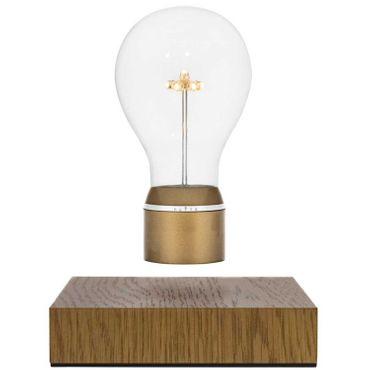 Flyte Royal schwebende LED-Dekoleuchte mit Eichenholzsockel