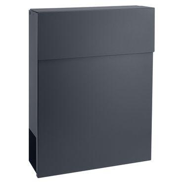 MOCAVI Box 500 Design-Briefkasten anthrazit mit Zeitungsfach (RAL 7016) – Bild 9
