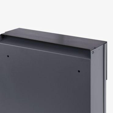 MOCAVI Box 500 Design-Briefkasten anthrazit mit Zeitungsfach (RAL 7016) – Bild 5