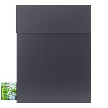 MOCAVI Box 500 Design-Briefkasten anthrazit mit Zeitungsfach (RAL 7016)