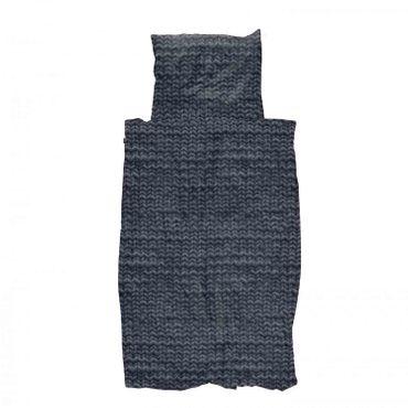 Snurk Bettwäsche Twirre Chacoal Black 135 x 200 cm 100% Baumwolle