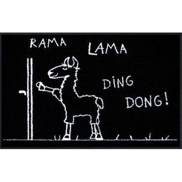 Salonloewe Fußmatte Rama Lama Ding Dong 50 x 75 cm Fußmatte waschbar