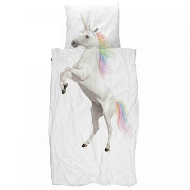 Snurk Bettwäsche Unicorn 135 x 200 cm 100% Baumwolle Einhorn