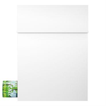 MOCAVI Box 500 Design-Briefkasten weiss mit Zeitungsfach (RAL 9003)