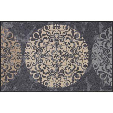 Salonloewe Fliesenkreise Fußmatte waschbar 75 x 120 cm
