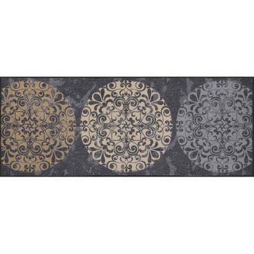 Salonloewe Fliesenkreise Fußmatte waschbar 75 x 190 cm