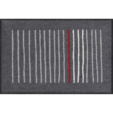 Salonloewe Mikado graphite Fußmatte waschbar 50 x 75 cm