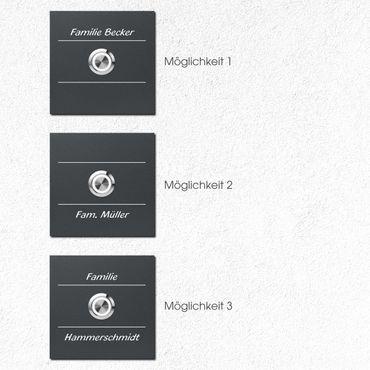 MOCAVI RING 505 G02 Qualitäts-Klingelplatte anthrazti mit Gravur aus V4A-Edelstahl, quadratisch (8,5 cm), LED-Taster – Bild 2