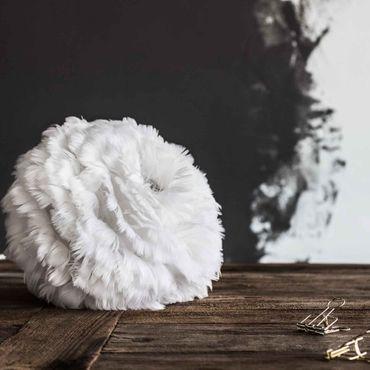 Umage / VITA Eos mini hellgrau Lampenschirm aus Gänsefedern D 35 cm – Bild 9