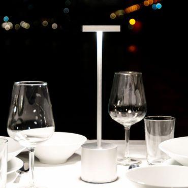Absolut Liberty Light Akkuleuchte silber Tischleuchte – Bild 2