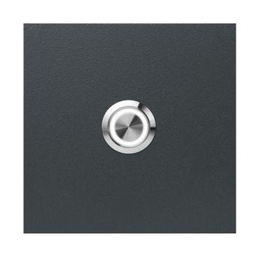 MOCAVI RING 505 LED-Klingel anthrazit-grau (RAL 7016) aus V4A-Edelstahl, quadratisch (8,5 cm)