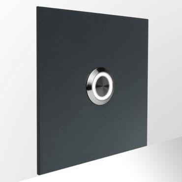 MOCAVI RING 505 moderne Klingelplatte anthrazit aus V4A-Edelstahl, quadratisch (8,5 cm), LED-Taster – Bild 2