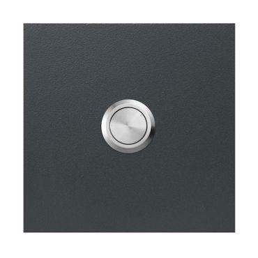 MOCAVI RING 500 Moderne Klingelplatte aus V4A-Edelstahl, anthrazit lackiert, quadratisch (8,5 cm)