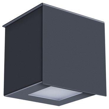 MOCAVI Shine 15 anthrazit (RAL 7016) LED-Außenleuchte mit Dämmerungssensor, energiesparend und recyclebar