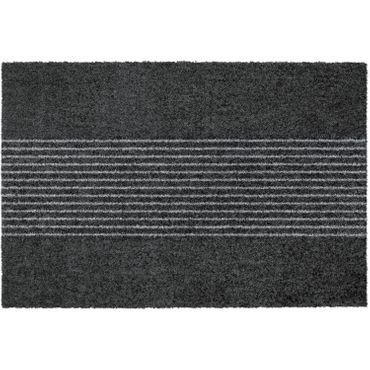 MOCAVI Step 340 Design-Fußmatte randlos anthrazit 50 x 70 cm Sauberlaufmatte Streifen