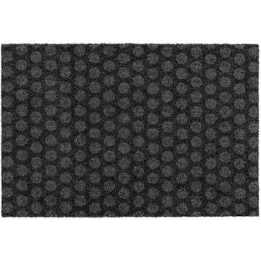 MOCAVI Step 330 Design-Fußmatte randlos anthrazit 50 x 70 cm Sauberlaufmatte Punkte