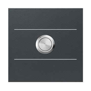 MOCAVI RING 500 G01 Moderne Klingel anthrazit aus V4A-Edelstahl, quadratisch (8,5 cm), Edelstahl-Taster – Bild 1