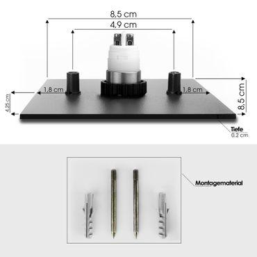 MOCAVI RING 500 G03 Modernes Klingelschild anthrazit mit Gravur aus V4A-Edelstahl, quadratisch (8,5 cm) – Bild 7