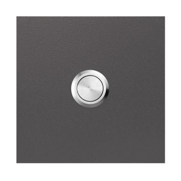 MOCAVI RING 500 Qualitäts-Klingel anthrazit-eisenglimmer (DB 703) aus V4A-Edelstahl, quadratisch (8,5 cm)