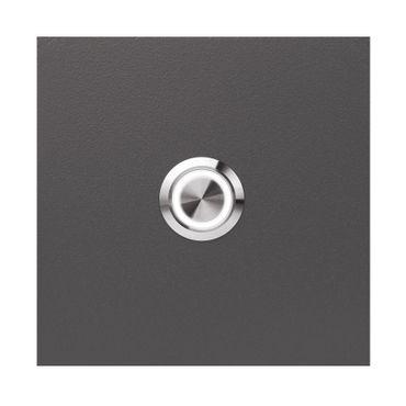 MOCAVI RING 505 LED-Klingel anthrazit-eisenglimmer (DB 703) aus V4A-Edelstahl, quadratisch (8,5 cm)