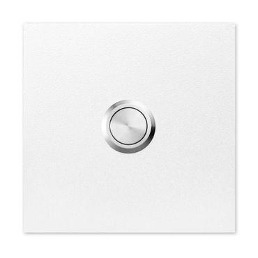 MOCAVI RING 500 Qualitäts-Klingel signal-weiß (RAL 9003) aus V4A-Edelstahl, quadratisch (8,5 cm)