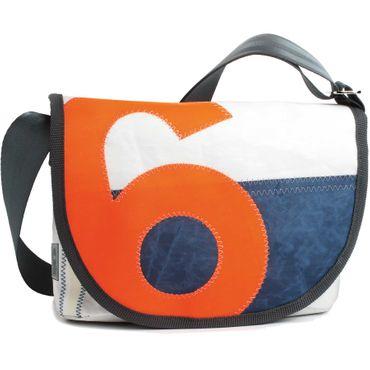 360 Grad Perle Satchel Damenhandtasche aus Segeltuch und Tweed mit Zahl Neon Orange Segeltuchtasche