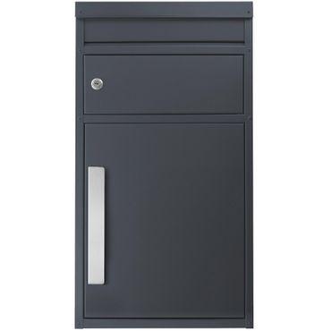 Paketbriefkasten SafePost 45M anthrazit-grau (Ral 7016) Design-Paketkasten modern