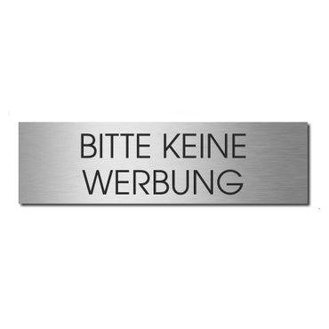 MOCAVI Stick 902 M Briefkastenschild selbstklebend BITTE KEINE WERBUNG Edelstahl graviert zweizeilig