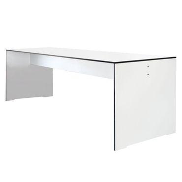 Conmoto Riva - Tisch L / 220 weiß - wetterfest aus HPL - Outdoortisch - Terrassentisch