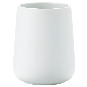 Zone Zahnbürstenbecher Nova weiß Porzellan mit Soft Touch-Beschichtung