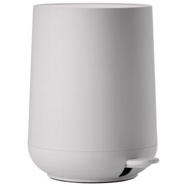 Zone Pedaleimer Nova Soft Grey / hellgrau 5 Liter Treteimer Höhe 29 cm