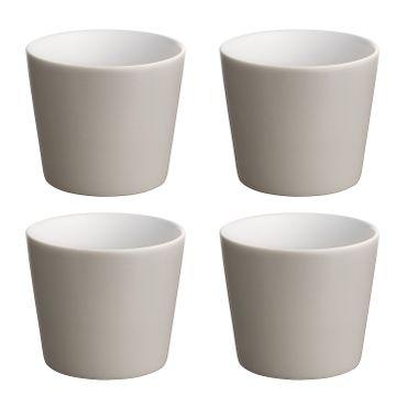 Alessi Glas/Tasse grau Tonale DC03/41 LG (4 Stück)