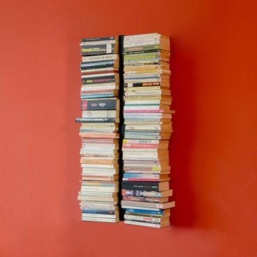 Radius Booksbaum 2-reihig schwarz Wand klein Bücherregal Wandregal - 720 a – Bild 3