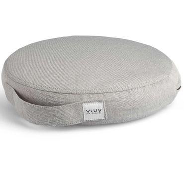 Vluv Pil+Ped Balancekissen aus PVC mit Bezug Leiv Silver D 36 cm