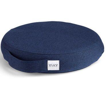 Vluv Pil+Ped Balancekissen aus PVC mit Bezug Leiv Royal Blue D 36 cm