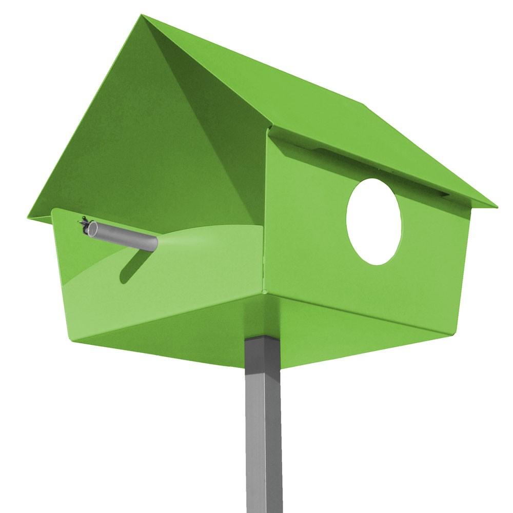radius vogelhaus piep show xxl gr n 529 d eingang garten tiere futter vogelfutterstellen. Black Bedroom Furniture Sets. Home Design Ideas
