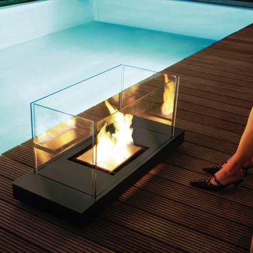 Uni Flame schwarz 1,7 L Feuerstelle Ethanolkamin in Stahl schwarz - 544 d – Bild 2