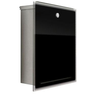 Radius Letterman 3 Edelstahl Glas schwarz Briefkasten - 559 b