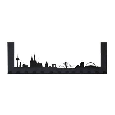 Radius Türgarderobe Köln schwarz mit 13 Haken