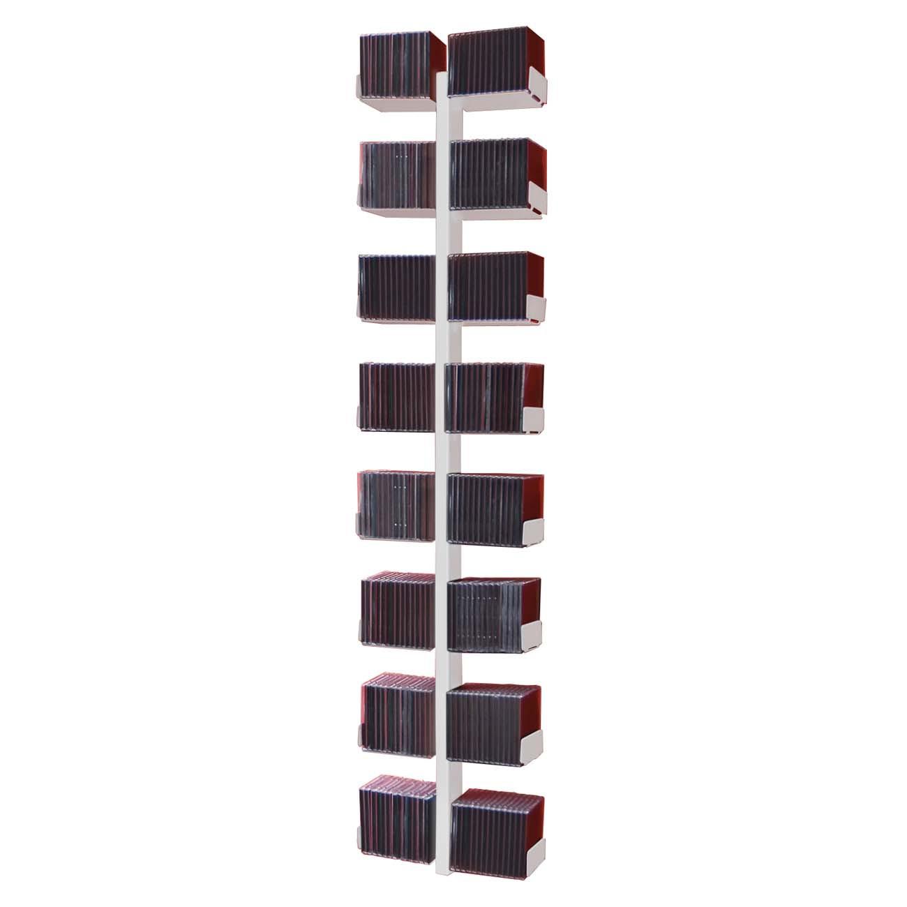 radius cd baum regal weiss wand 1 gro 723 b wandregal cd regal ebay. Black Bedroom Furniture Sets. Home Design Ideas